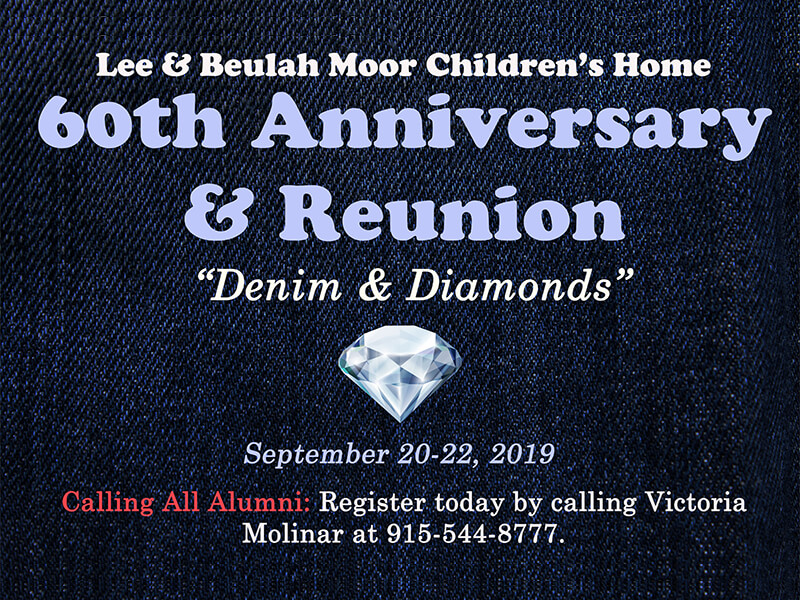 Lee & Beulah Moor Children's Home 60th Anniversary and Reunion.